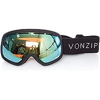b71264dfbf1c Von Zipper Black Satin-Wild Stellar Chrome 2018 Skylab Snowboarding Goggles