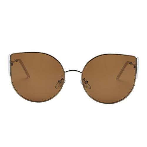 sharprepublic Übergroße Vintage Sonnebrille Women Sunglasses UV Schutz für Outdoor, Fahren, Strand und Urlaub - Tawny