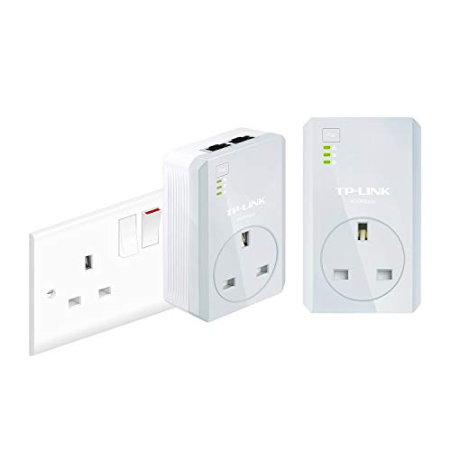 Price comparison product image TP-Link TL-PA4020PKIT 2-Port Passthrough Powerline Adapter Starter Kit,  No Configuration Required