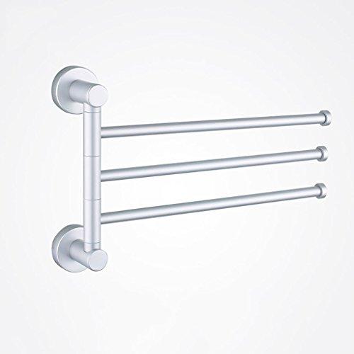 FACAIG Badezimmer Wand rack Space-Type Aluminium 3-Bar und 4-bar-Ausschwenken-Handtuchhalter Handtuchhalter an der Wand montierte aktive Klappbare drehbare Aufhängung Bad Handtuchhalter Handtuchhalter wc Regal Wandregal (Größe: 3 Stangen)