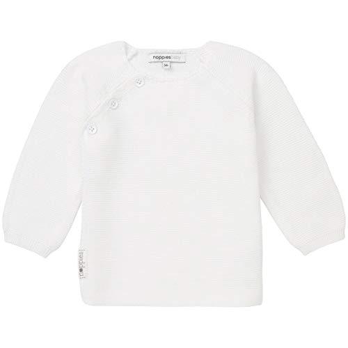 Noppies Unisex Baby Strickjacke U Cardigan Knit ls Pino, Weiß (White C001), 62