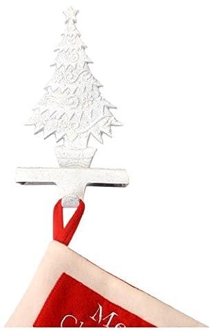 Insideretail Haken für Weihnachtsstrümpfe, weiß, 2Stück