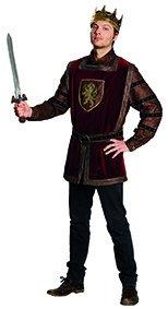 Kostüm Herren König - Herren Kostüm König Arthur Gr. 56 Oberteil dunkelrot Mittelalter Fasching