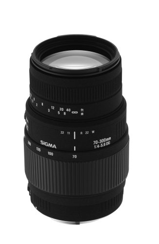 Sigma Af 70-300mm F/4-5.6 Dg Macro Telephoto Zoom Lens For Sony Dslr Camera