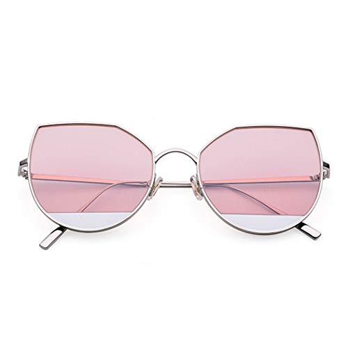 HONGNA Ultraleicht Reiner Titan Eye Sonnenbrillen Neue Blaue See Legende Mode Wild Star Tränen Marine Film Sonnenbrille (Color : Pink)