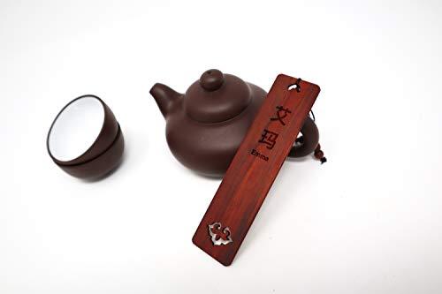 Segnalibro originale personalizzato con il tuo nome tradotto in Cina, legno sacra portafortuna, regalo originale personalizzato