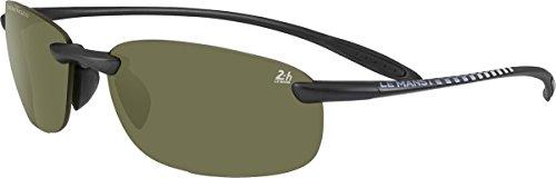 Serengeti - NUVOLA 24H LE MANS, Sportbrille, Acetat, Herrenbrillen, SATIN BLACK/POLARIZED PHD 555NM(8481), 61/15/0