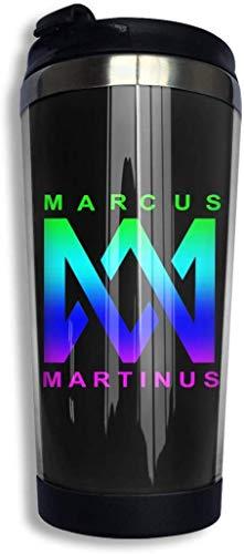 Zjipeung Marcus & Martinus Kaffeetasse Edelstahl Wasserflasche Tasse Reisebecher Kaffeebecher mit auslaufsicherem Deckel