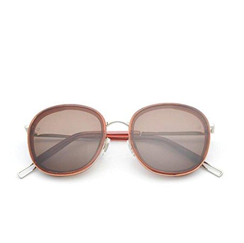 HU Sonnenbrille männlichen und weiblichen Allzweck-Full-Frame-UV400 UV-resistenten Harz Sonnenbrillen (14,1 * 5,7 * 5,6 * 1,9 * 15,6 cm) (Farbe : Braun)