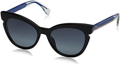 Fendi Ff 0132/S Hd, Gafas de Sol para Mujer, Bkcrybluorng, 51