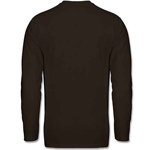 Halloween - Trick or Treat Halloween Typo - Longsleeve / langärmeliges T-Shirt für Herren Braun
