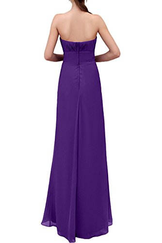 Promgirl House Damen Modisch Lang Trägerlos Etui Chiffon Abendmode  Partykleider Abendkleider Cocktail Ballkleider Lang Rot