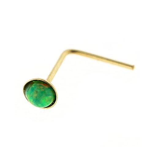 9KT Solid Yellow Gold Bezel Stet 2.0 MM Green Opal