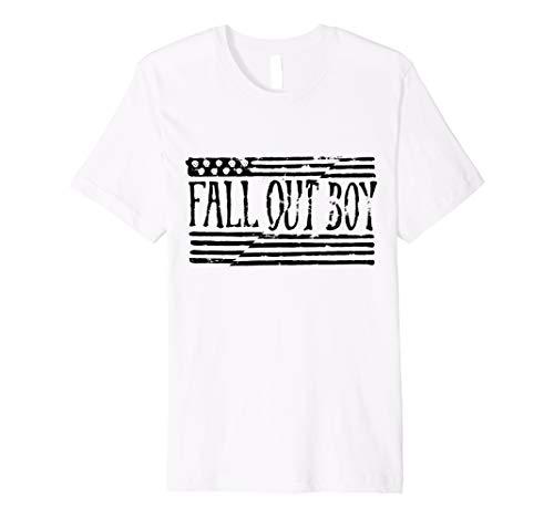 Herren Fall Out Boy - Split Flag Tee - Flag Fall Out Boy Shirt
