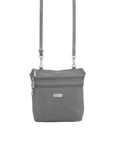Baggallini Zipper Bag Sac bandoulière, Gris (Baggallini Luggage)