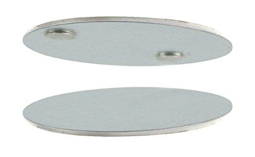 Eurosell - 10 Stück - Profi Rauchmelder Magnethalter Decken Halterung - Magnet + Klebepads -...
