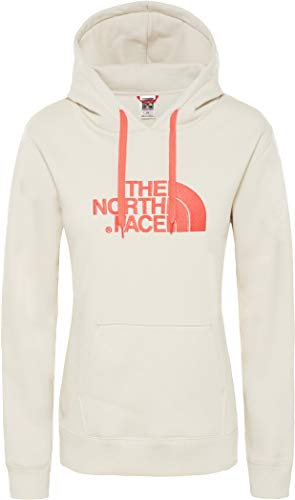 The North Face Drew Peak Sudadera, Mujer, Vintage White/Spicd Coral, M