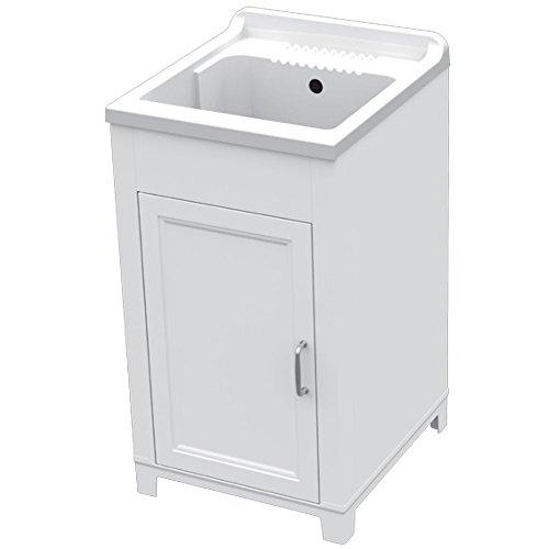 Mobile CM.45X50 Kit Lavatoio In Resina E Pvc Bianco