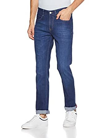 French Connection Men's Slim Fit Jeans (541SQ-5 Rinse Doodles_30W x 33L)