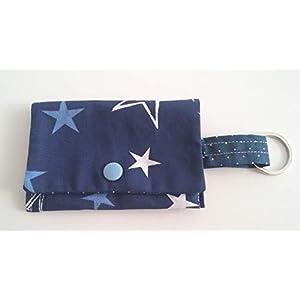 Kotbeutelspender Hundebeutel blau Sterne Handarbeit Handmade