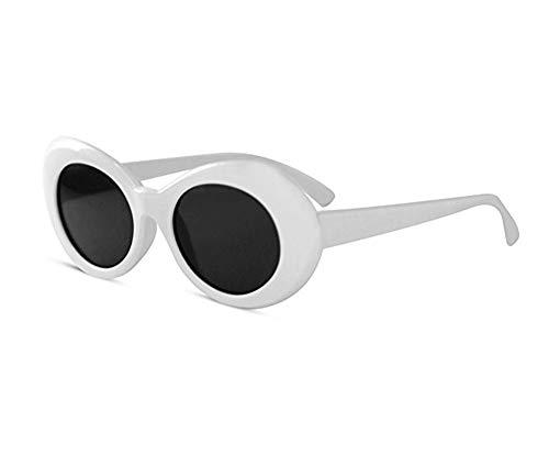 KGM Accessories Cool Nirvana Kurt Cobain Style Clout Sonnenbrille Weiß