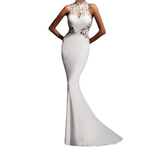 WINLISTING Frauen reizvolle Damen nehmen Sleeveles beiläufiges Partei-Tau-Rucksack-Hüfte-langes Kleid ab Ärmelloses Kleid mit herausgestellten Taschen und Rundhalsausschnitt