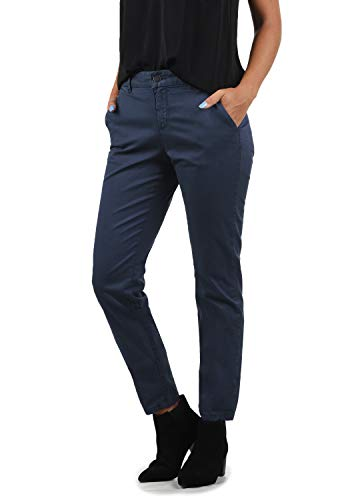 BlendShe Chilli Damen Chino Hose Stoffhose Regular-Fit, Größe:M, Farbe:Mood Indigo Washed (20064)