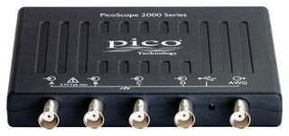 Pico Technologie PICOSCOPE 2407b PC-Oszilloskop 4Kanäle mit FG/AWG, 70MHz, inkl. Prüfspitzen