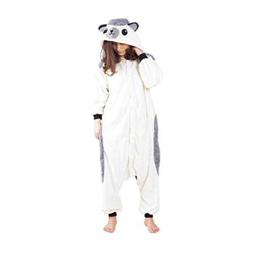 (Casa Pyjama Tieroutfit Schlafanzug Tier Onesies Sleepsuit mit Kapuze Erwachsene Unisex Overall Halloween Kostüm Jumpsuit)