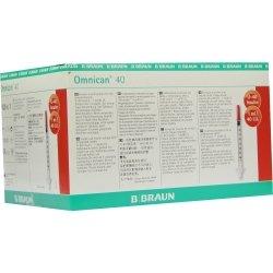 OMNICAN Insulinspr.1 ml U40 m.Kan.0,30x8 mm einz. 100 St Spritzen