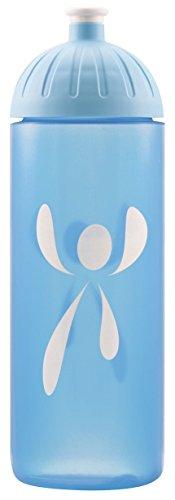 Original ISYbe Marken-Trink-Flasche für Kinder und Erwachsene, 700 ml, BPA-frei, Logo weiß-Motiv, geeignet für Schule-Reisen-Sport & Outdoor, Auslaufsicher auch mit Kohlensäure, Spülmaschine-fest