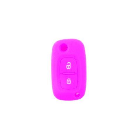 Brightparts® Silikon Schlüsseletui Hülle Etui Schlüssel Cover für Renault mit 2 Tasten Schlüssel (Pink)