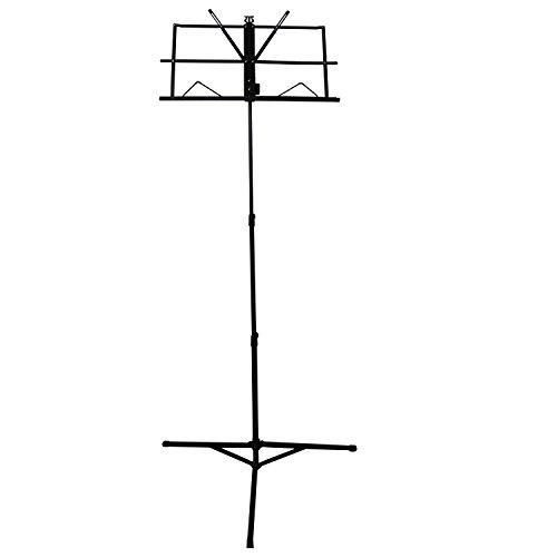 CAHAYA Notenständer Metal Einstellbar mit Wasserdicht Tragetasche klappbar Höhenverstellbar (68-102cm) - Schwarz (Notenständer)
