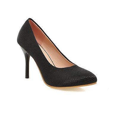 Moda Donna Sandali sexy donne miscela solida materiali appuntita High-Heels punta chiusa pull-on Pumps-Shoes beige
