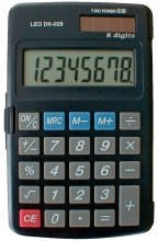 LEO DK029 Solar-Taschenrechner DK-029, grau, 8-stellig