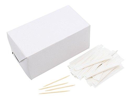 (Zahnstocher aus Holz in Papierverpackung, saubere Prtemium-Qualität, aus Holz, 6,5 cm Länge, 1000 Stück)