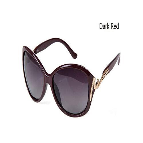 Sport-Sonnenbrillen, Vintage Sonnenbrillen, NEW Fashion Polarisiert Sunglasses Women Luxury Brand Design Sun Glasses Gafas De Sol Polarizadas Oculos De Sol Feminino M088 Dark Red