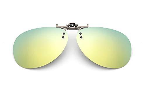 LIUYIAO Sonnenbrillen Outdoor UV polarisierte Linsen Brille Clip Sonnenbrille Männer und Frauen Fahren Myopie Sonnenbrille Retro Sonnenbrille,Yellow
