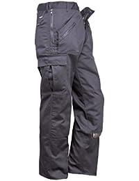 Portwest Clásico Ropa de trabajo Acción Pantalones Con Zip Bolsillos, Negro o Azul oscuro
