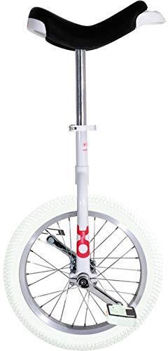 QU-AX Unisex- Erwachsene Onlyone Einrad, Weiß, One Size