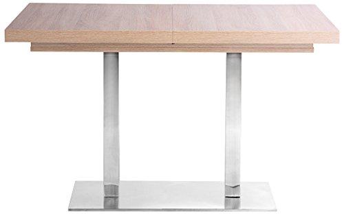 Inter Trade 1642 Table de Salle à Manger Extensible, Bois, Chêne Sonoma, 120 x 80 x 75 cm