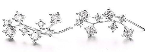 SaySure - AAA+ CZ Diamond Ear Cuff Earrings For Women