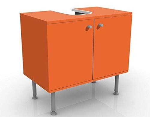 Meuble sous Vasque Design Colour Orange 60x55x35cm, Petit ...