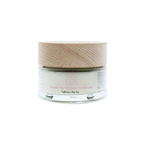 Seta Beauty Crema Viso Idratante e Purificante con Caffeina e Aloe Bio 50 ml. Idratante Rinfrescante adatto per pelle mista normale grassa e sensibile
