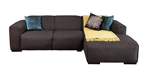 Forzza Flotta L-Shaped Five Seater L-Shaped Sofa (Dark Blue)