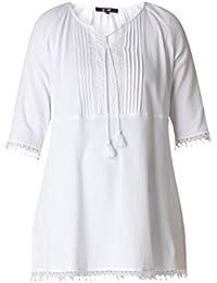 67be4e42d9657b Tunika Damen große Größen A-Linie in Weiß aus Baumwolle von Yesta Shirt  Oberteil…