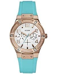 Guess Reloj Análogo clásico para Mujer de Cuarzo con Correa en Acero Inoxidable W0564L3