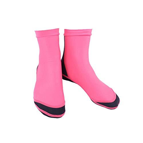 TZTED Neoprensocken 1.5MM Tauchsocken Schuhe für Schwimmen, Schnorcheln, Segeln, Surfen,Red,L(39~42)