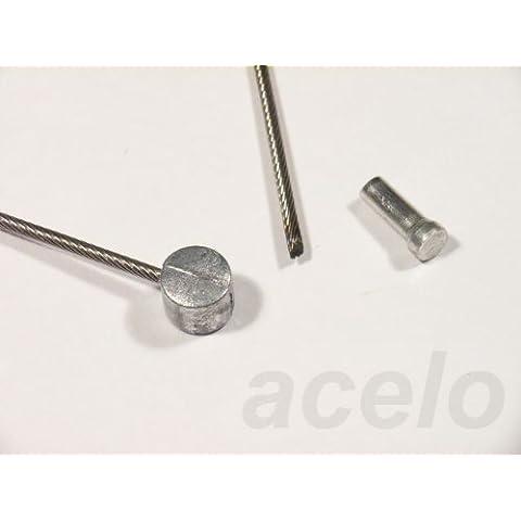Bowden/cavo freno–acciaio inox–ad es. per bicicletta, con raccordo filettato, 1tappo di protezione–diverse