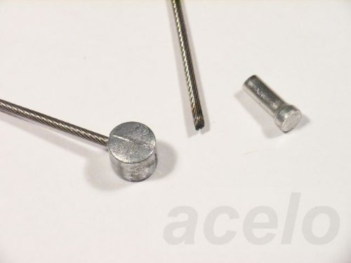 Bowdenzug / Bremszug - Edelstahl - z.B. für Fahrrad - mit Tonnennippel, mit 1 Schutzkappe - mehrere Längen (1.200 Millimeter)